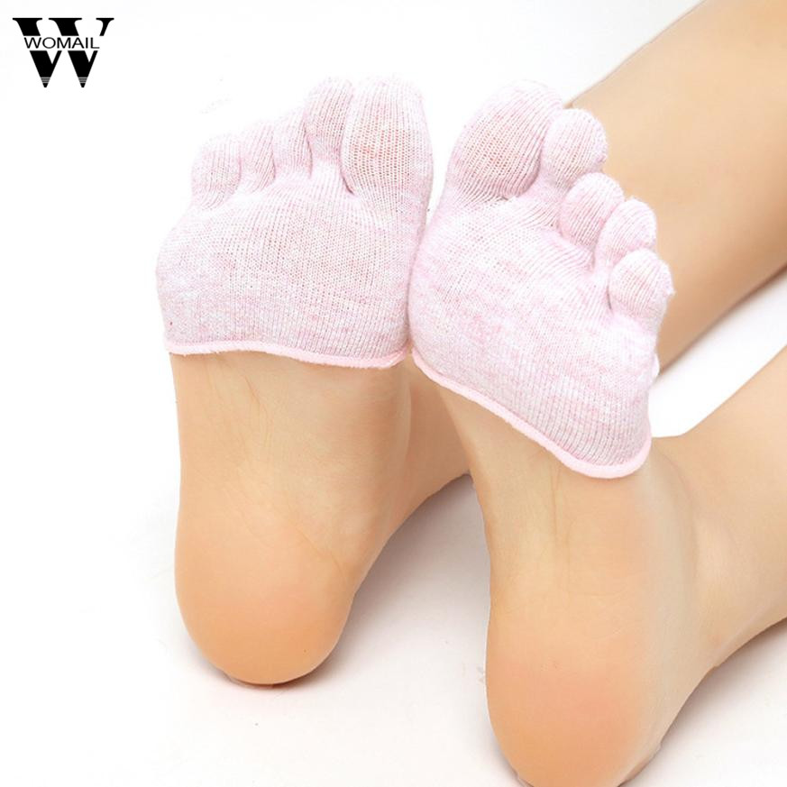 1 Pair Of Women Invisible Toe Socks Made Of Cotton Blend Material For Yoga Gym 3