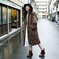 Calidad de Japón Estilo Otoño Invierno Señoras de La Manera de La Vendimia Suéter Largo Ropa Harajuku Mujeres de Manga Murciélago Loose Cardigan Outwear