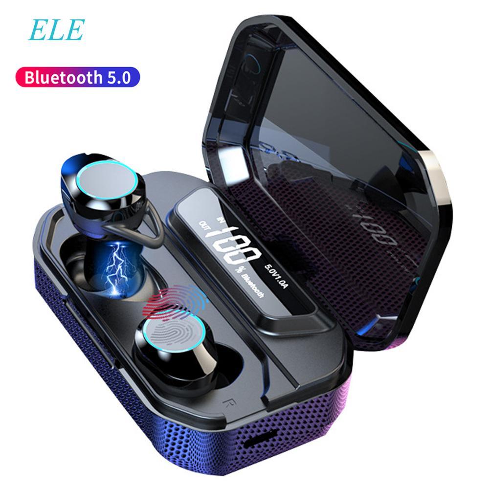 ELE TWS 5.0 Bluetooth 6D stéréo écouteurs sans fil écouteurs IPX7 étanche écouteurs 3300 mAh LED batterie externe intelligente support pour téléphone-in Écouteurs et casques from Electronique    1