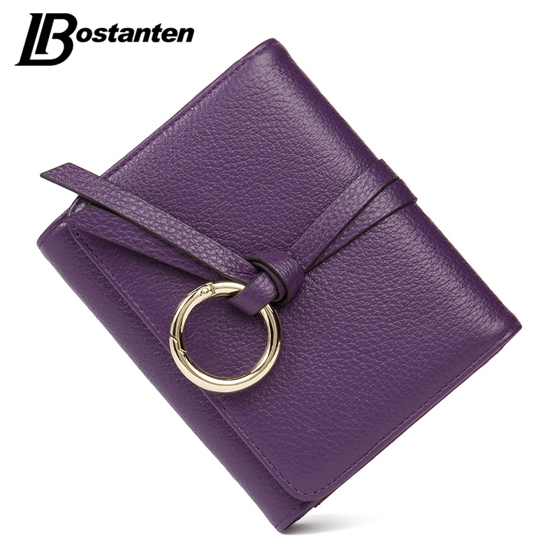 BOSTANTEN New Short Genuine Leather Wallet Panelled Women Wallets Fashion Dollar Price Card Holder Lady Purse Mini Female Wallet 2016 new arrive pvc and pu leather purse american marvel comic deadpool wallet with card holder dollar price free shipping