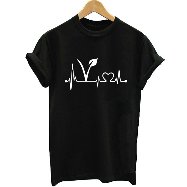 100% Cotton Vegan T shirt Women Tees Womens Black Short Sleeve Letter Print T-Shirt Female Clothes Printed Tshirt Girl Funny