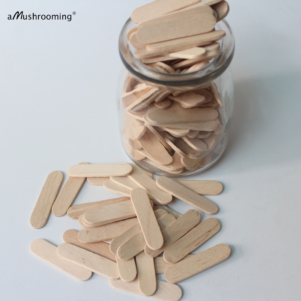 Ev ve Bahçe'ten Dondurma Çubukları'de 10000 Kişiselleştirilmiş Lazer Gravür mini Dondurma Çubukları Düz Dondurma Kaşığı Pirinç Gevrek Pop Sticks Mini balmumu vücut spa sopa 4 cm'da  Grup 1