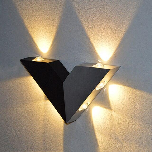 Moderno V Forma Triangolo In Alluminio Applique Da Parete Per La ...