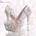 Ручной AB кристалл цвет свадебные туфли феникс 2016 новые мода пром ну вечеринку формальный туфли невесты высокие каблуки туфли на высоком каблуке