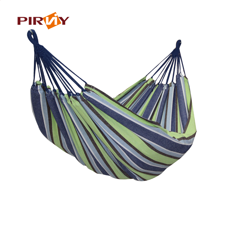 Portable Outdoor Hammock Garden Sports Home Travel Camping Swing Polyester Cloth Stripe Hang Bed Hammock 5 Color 290*160cm outdoor sleeping parachute hammock garden sports home travel camping swing nylon hang bed double person hammocks hot sale