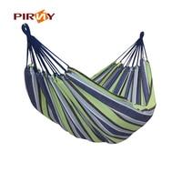 Portable Outdoor Hammock Garden Sports Home Travel Camping Swing Polyester Cloth Stripe Hang Bed Hammock 5