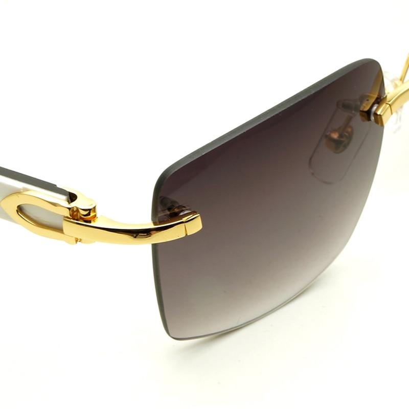 4a77797679 Big Square brand designer Sunglasses Men Carter Glasses Women Rimless  Buffalo Horn Glasses Mens Vintage Sunglass Mens Eyewear-in Sunglasses from  Apparel ...