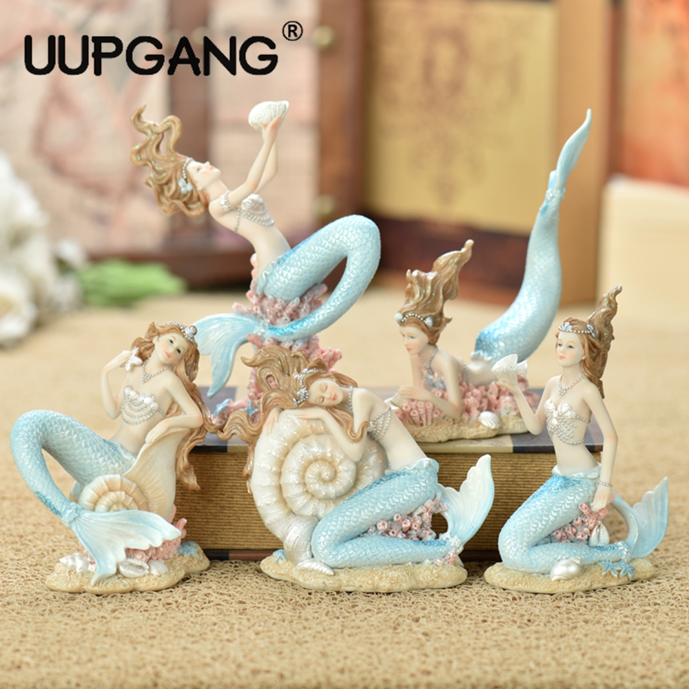 Sweet Fairy Mediterranean Mermaid Princess Resin Figurines Decorative Landscape Bonsai Ornaments Creative Home Decor MiniaturesSweet Fairy Mediterranean Mermaid Princess Resin Figurines Decorative Landscape Bonsai Ornaments Creative Home Decor Miniatures