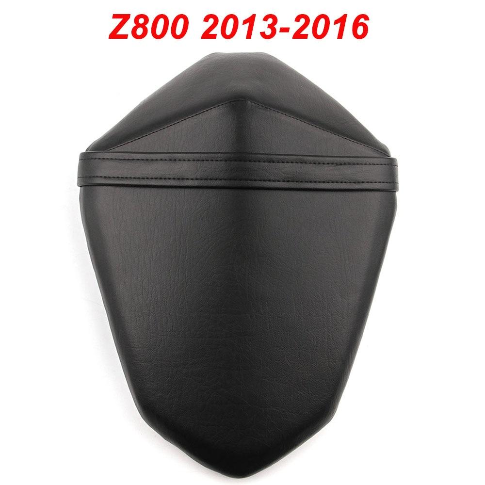 Pour 13-16 Kawasaki Z800 Moto Arrière Siège Passager Coussin Passager Coussin En Cuir De Couverture 2013 2014 2015 2016 NOIR