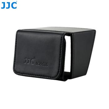 JJC LCH-S35 krotnie Out ekran osłona przeciwsłoneczna pokrywa dla 3 5 #8222 osłona lcd kamera wideo wyświetlacz Protector dla Canon Sony kamery tanie i dobre opinie LCD Hood Black Microfiber Leather Fit 3 5inch LCD Display