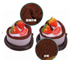 5 pieces New 2014 Wholesale Love Cake fruit strawberry Towel Couple Festival Promotional Gifts Gift 6 colors