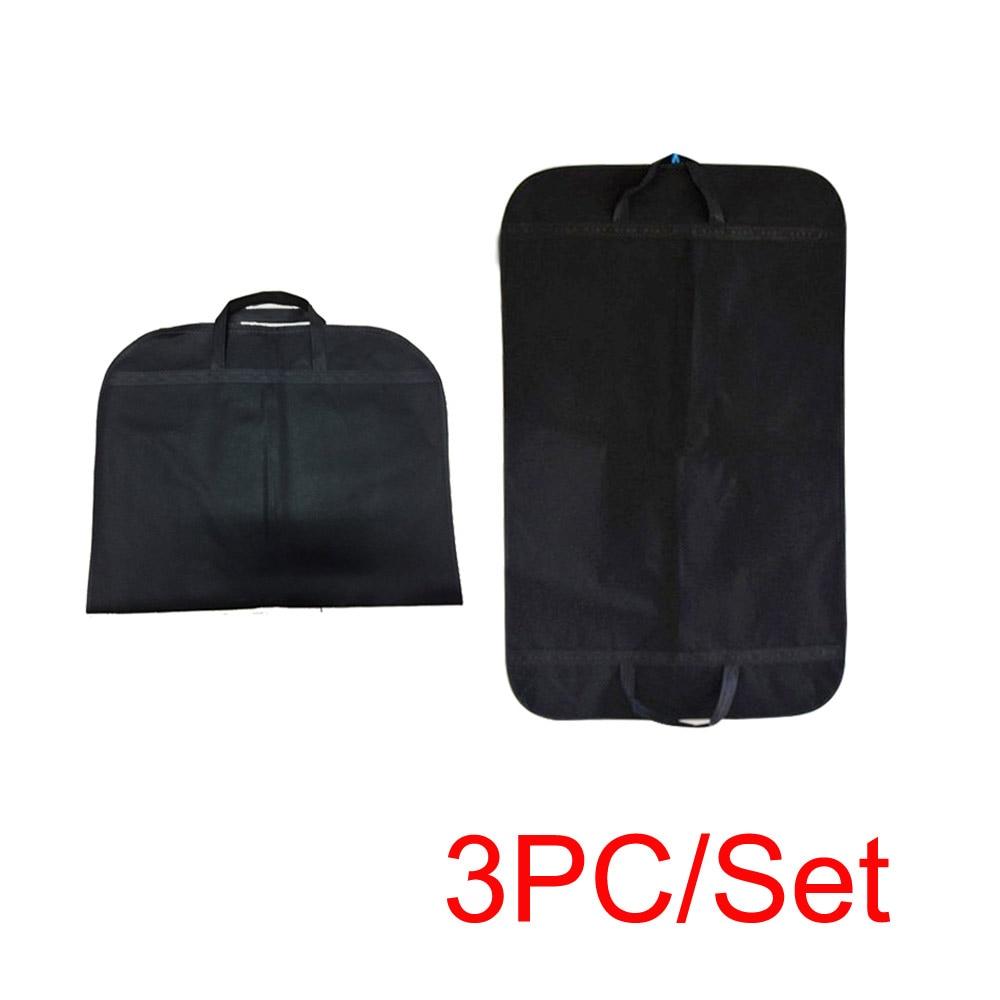 3pcs Suit Garment Clothes Travel Dustproof Hanger Storage Protector Covers Handbag Dust CoverBag Organizer Case Home Supplies