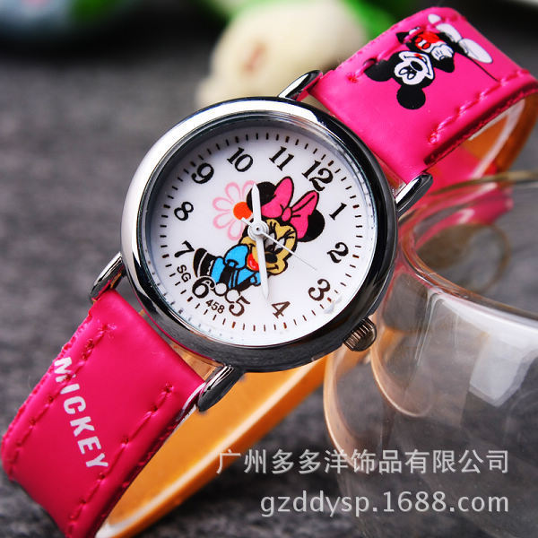 Fashion Cartoon Clocks Women Girl Student watch kids Quartz wristwatch Child Boy