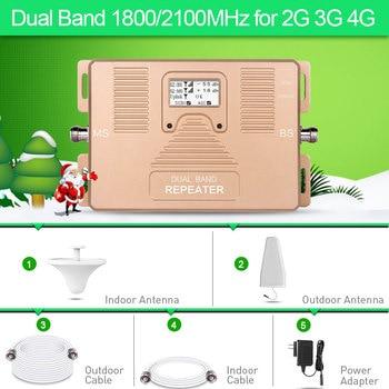2G 3g 4G двухдиапазонный 1800/2100 MHz Усилитель сотового телефона 2g 3g 4g повторитель DCS UMTS мобильный усилитель сигнала Комплект для ЕС Assia Африка >>