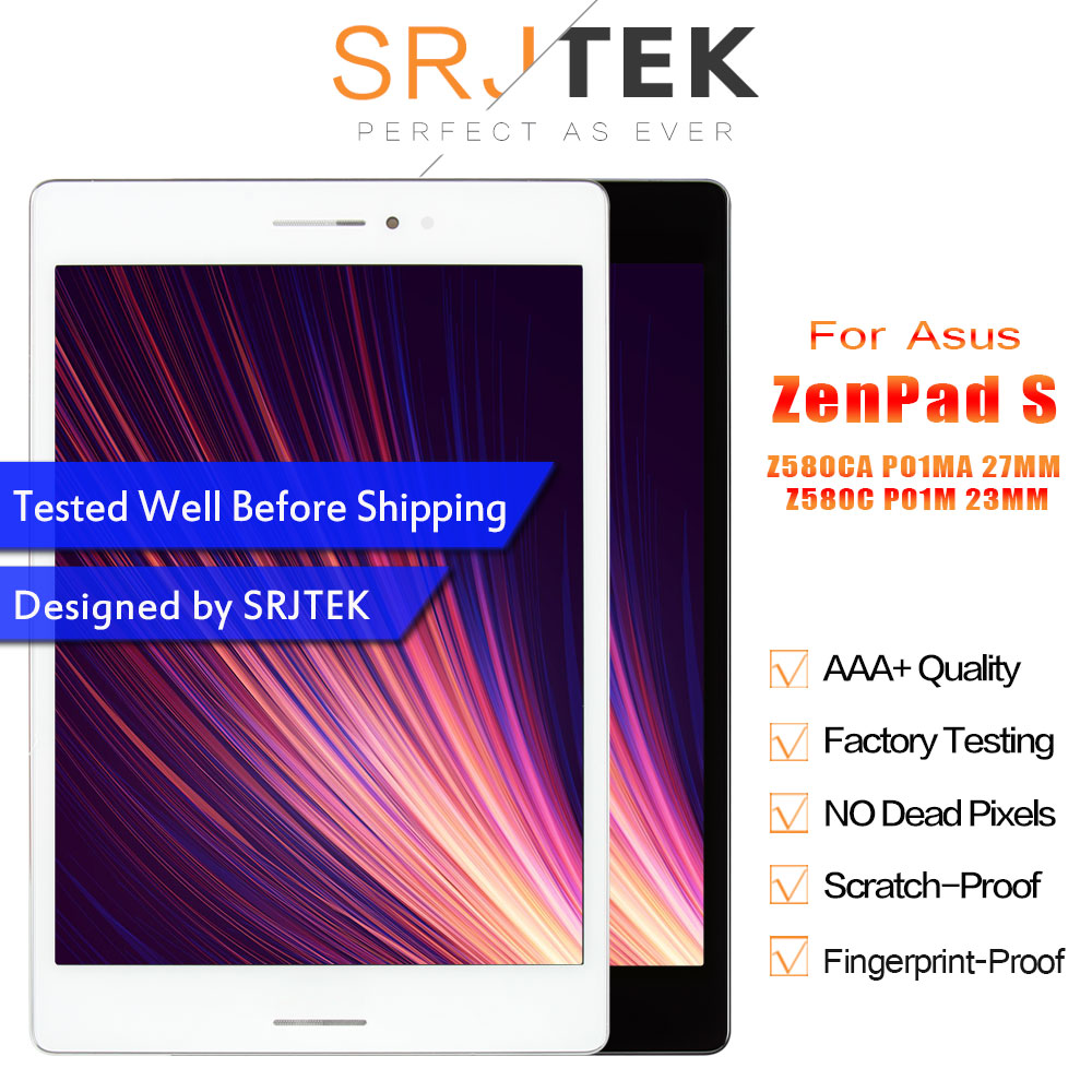 LCD For Asus ZenPad S 8.0 Z580CA 27MM P01MA Z580C 23MM P01M Z580 LCD Display Touch Screen Matrix Digitizer Assembly with Frame