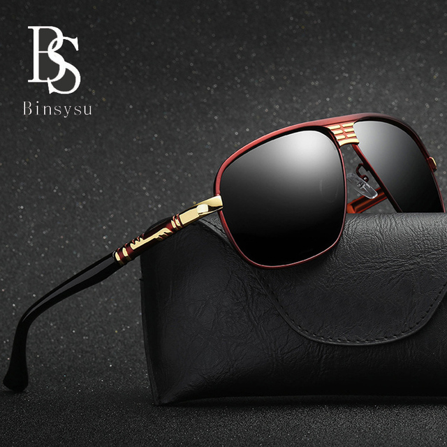 167a3b57b Metal frame Goggle driver Polarized women's sunglasses Man Famous brand  designer Square mirror Sun UV400 oculos