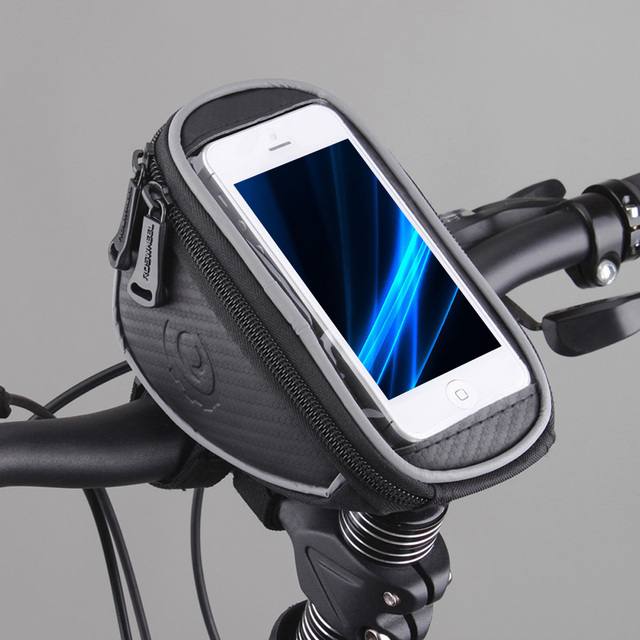 4.2″ 5″ 5.5″ ROSWHEEL Touchscreen Bicycle Bag Handlebar Cycle Cycling Frame Tube Bag Panniers Waterproof Bike Bag Phone Pouch