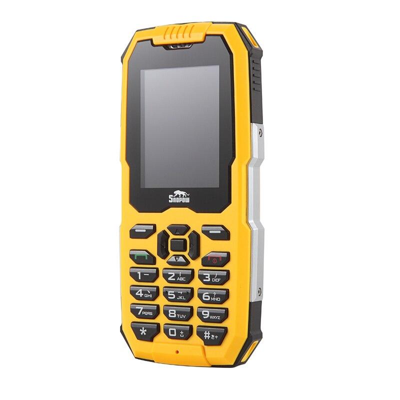 IP68 téléphone robuste étanche à la poussière antichoc GSM 2G double carte Sim téléphone Mobile grand clavier lampe de poche forte lumière