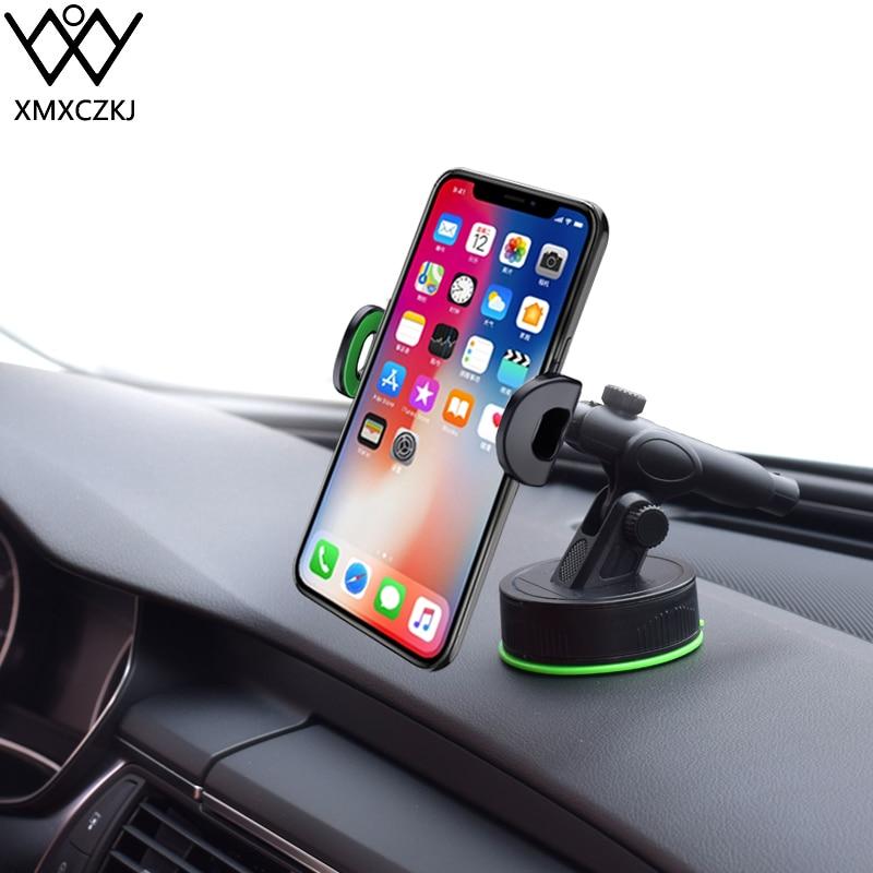 XMXCZKJ Suporte Ventosa Telefone Do Carro Montar Titular Suporte Do Telefone Para o iphone X XS 8 7 Smartphones Otário no Carro Gravidade voiture Stand