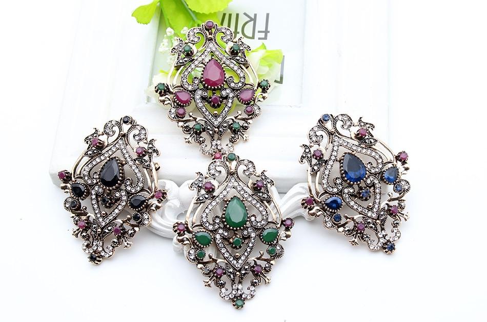 Етнічна турецька брошка для жінок - Модні прикраси - фото 5