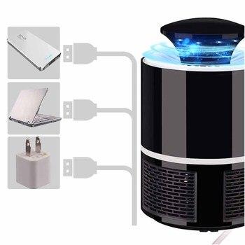 Mosquito Killer USB Электрический комаров Killer лампа Фотокатализ немой домашний светодиодный жучок ловушка для насекомых Zapper ловушка без излучения ...