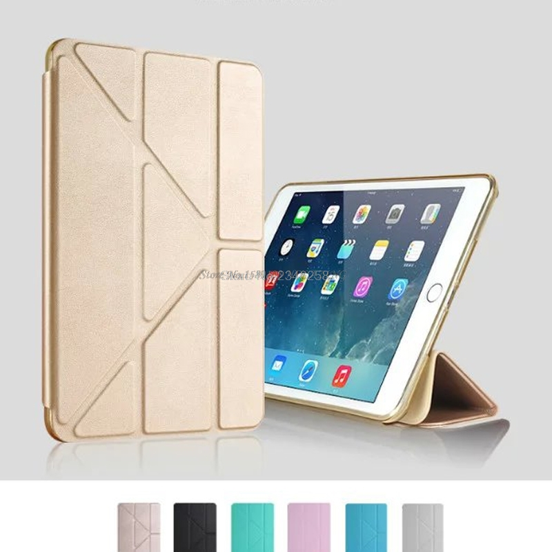 Anti-Shoock Soft Silicone TPU Full Body Drop Protection Slim Smart Stand Case for iPad Air 2 Air2 Translucent Frosted Back Cover scolour hot soft gel tpu skin silicone back case cover silk slim clear transparent smart back cover for ipad mini 1 2 3 retina