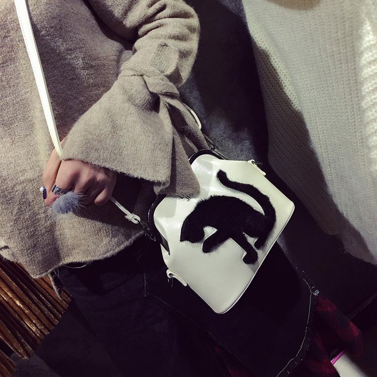 2017 Women Party Bags Cat Bag Ladies Cross Body Bag Women Bags Shoulder & Handbags Messenger Bags Female Leather Shoulder Bags (46)