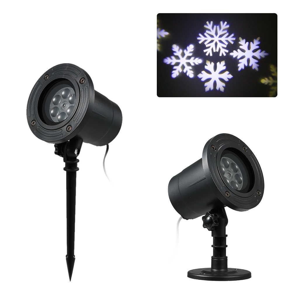 Проектор проекции света газон пейзаж лампы освещения AC110-240V 6 Вт 4LED Snow Flake приспособление поддерживается автоматического запуска режим работы