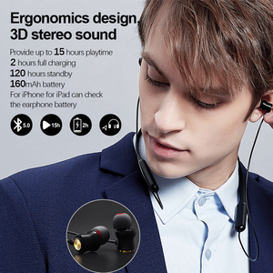 Image 3 - NILLKIN true wireless Bluetooth earphone 5.0 neckband headphone microphone Metal Magnetic Headset Earbuds Gaming Running sport