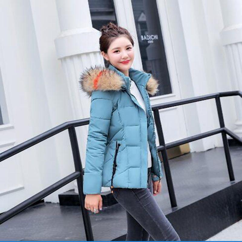 07820c8efc51f Piel Mujeres Caliente Acolchado Algodón Cielo 2018 5 De Invierno gris  Oscuro Mujer Más Parka 6 ...