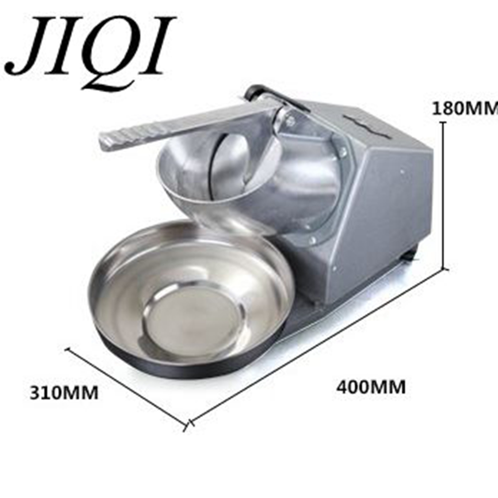 JIQI Ice Shaver Machine Electric Snow Cone Maker Stainless Steel Shaving Crusher edtid electric commercial cube ice crusher shaver machine for commercial shop ice crusher shaver