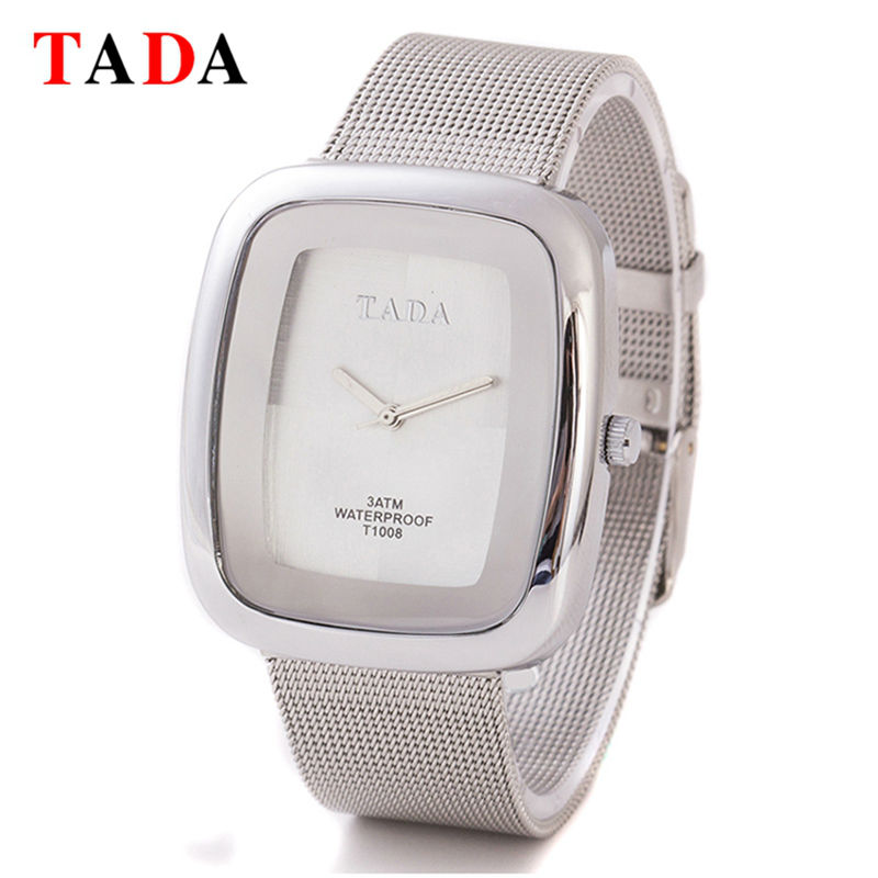 3ATM Waterproof Top Luxury TADA Watch Girls grid steel band Metal Mesh Steel Relogio Feminino Clock
