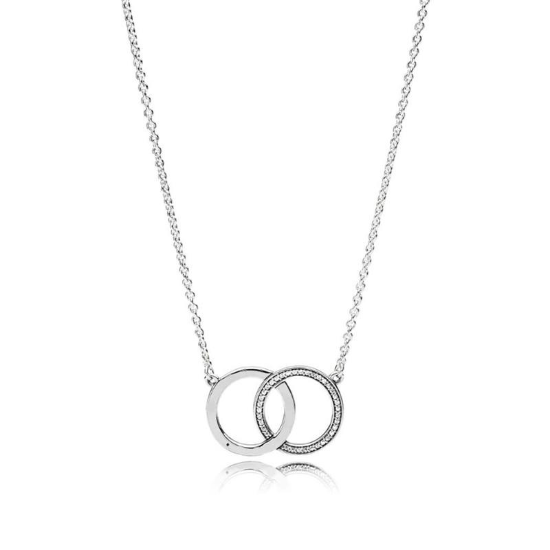 KAKANY Fashion Female Classic Elegant Circles Necklace Has Logo 100% Pure Silver Foundation Chain Factory Wholesale Free Mail