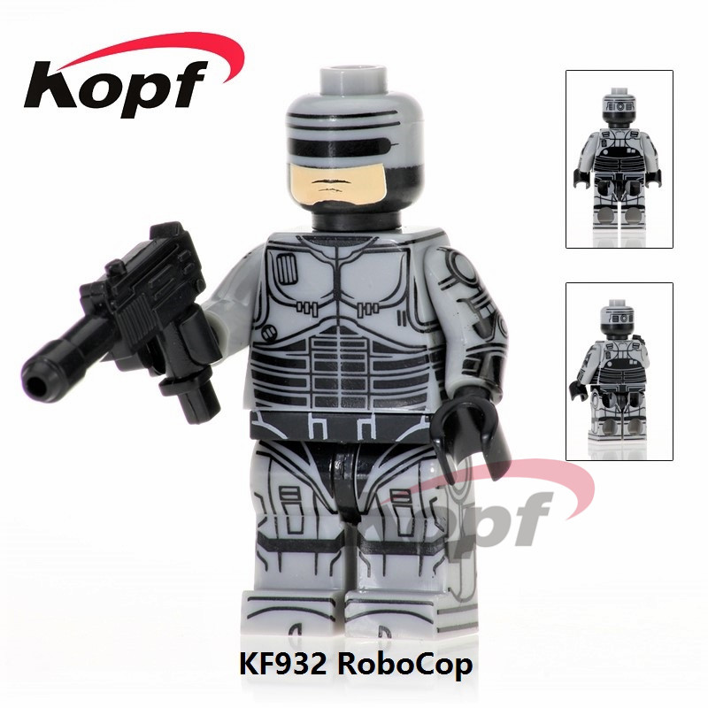 KF932 Building Blocks Robocop Movie Alex J. Murphy Voltron Team Godmars Super Heroes Star Wars Action Figures Gift Toys Children 12pcs set children kids toys gift mini figures toys little pet animal cat dog lps action figures