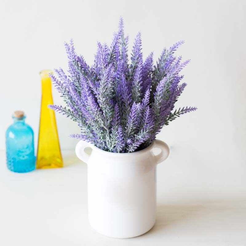 Simulated Lavender Artificial Flower Pot Arrangement for Home Garden Decor JS21