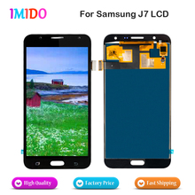 10Pcs Wholesale For Samsung Galaxy J7 J700F J700M J700H 2015 LCD Display Touch Screen Digitizer Assembly Fast Free DHL Shipping недорго, оригинальная цена
