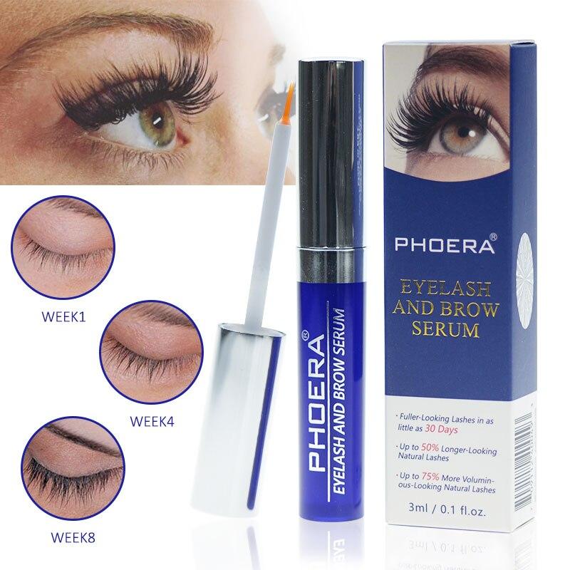 PHOERA 3ML Eyelash Growth Eyelash Longer Thicker Liquid Stimulator Growth Enhancer Rising Eyelash Lengthening Extension TSLM2