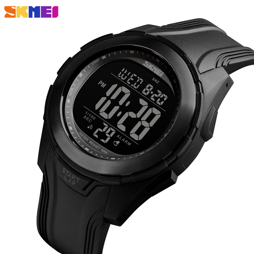 <font><b>SKMEI</b></font> Luxury Sport Men LED Digital Watches Fashion Military Chrono Clock Waterproof Dual Time Wristwatches Relogio Masculino image