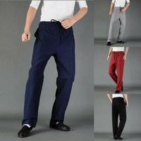 Casual Mens Cross Pants Trousers Chinese Style Kung Fu Tai Chi Retro Loose Pant