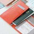 Nuevo 2015 Mujeres Hombres Billetera Pasaporte Caja del pasaporte Titular de la Tarjeta de Crédito Travel Bolsa de Almacenamiento Paquete
