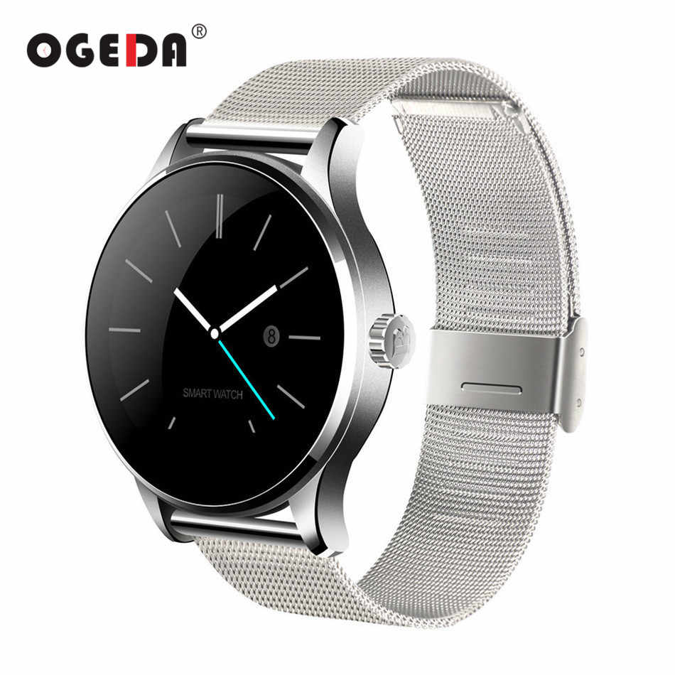 OGEDA Men Smart Watch K88H Wearable Devices Health Waterproof Digital Reloj Inteligente Smartwatch for IOS Android Smart Clock