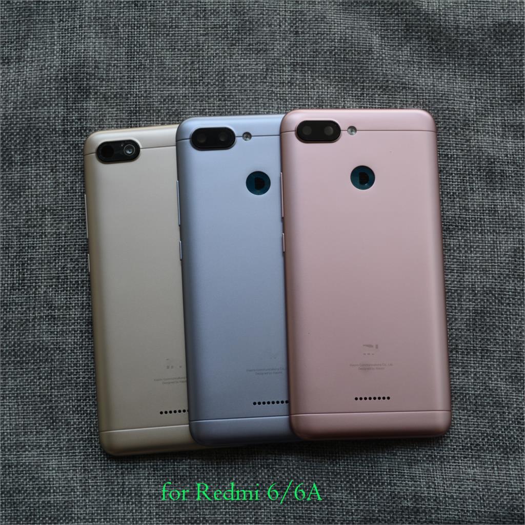 New Original Battery Back Cover Door For Xiaomi Redmi 6 6A Redmi6 With Camera  Lens Dual 2 Sim Version
