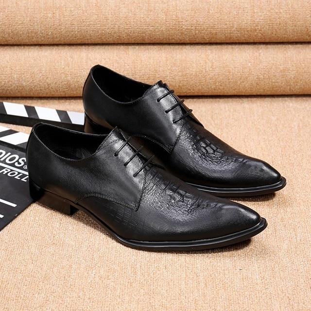 e5db2d20bf Sapato social Zobairou pontudos sapatos de couro dos homens mocassins  deslizamento em apartamentos sapatos formais homens