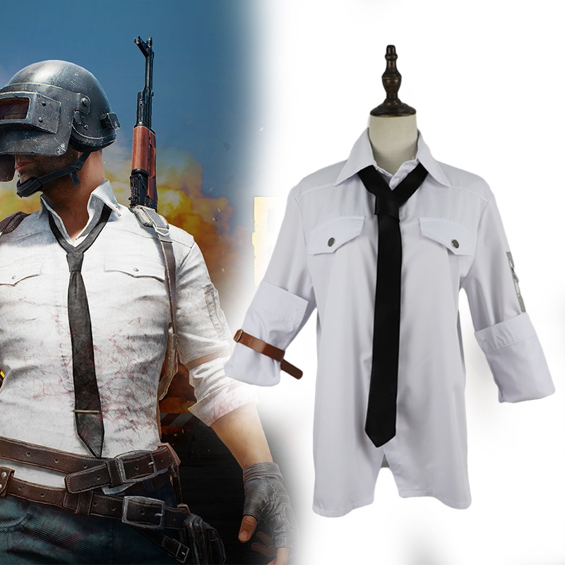 T Shirt Set Cosplay for Jedi Survival Battle Royale Mask Eat Chicken Halloween Costume Adult for Playerunknonw's Battlegrounds