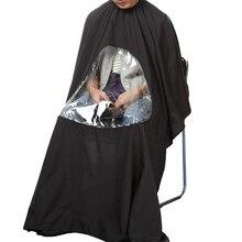 115*80 ซม.Professional กันน้ำจัดแต่งทรงผม Salon Barber ช่างทำผมตัดผม Hairdressing Gown Cape with Viewing Window ผ้ากันเปื้อน