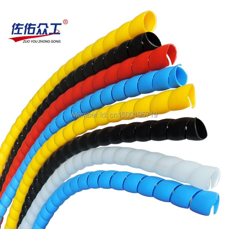 Tubo de numeración 8mm-28mm 2 metros/lote colorido cable envoltura espiral en La Manga del cable cableado arnés motocicleta calor tubo manga
