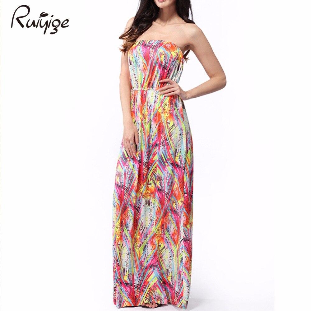 Платья цветные макси