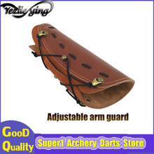 Crossbow Hunting Archery Arm Cowhide Leather Guard Protection Accessory For recurve bow Safe