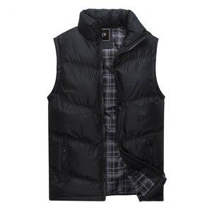 Image 3 - 2019 nova marca dos homens jaqueta sem mangas colete inverno moda casual casacos masculinos algodão acolchoado colete masculino engrossar colete 3xl