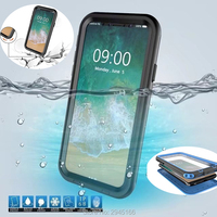 Waterproof Case for iPhone X Shockproof phone Back Cover Transparent 360 Full Protection Outdoor Swimming and skiing Funda Coque